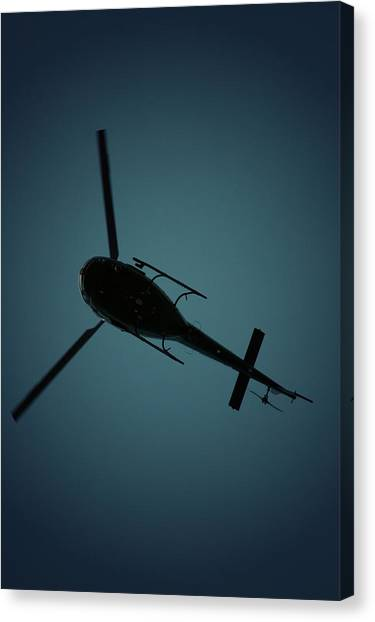 Helicopter Silhouette Canvas Print