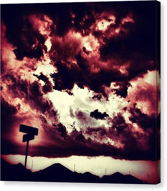 Hell Canvas Print - Hell In The Sky by Jessica Polasek