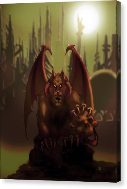 Hell Wolf Canvas Print by William McDonald