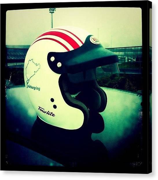 Racing Canvas Print - Helmet by Ale Romiti 🇮🇹📷👣