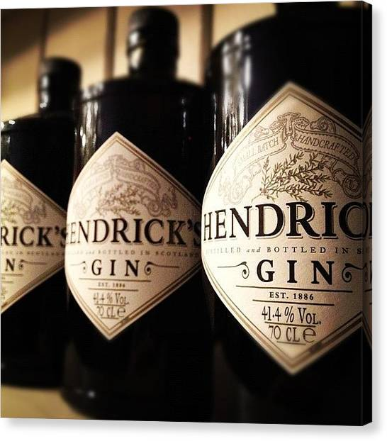 Gin Canvas Print - #hendricks #gin #oldskool #vintage Were by Charlie Smith