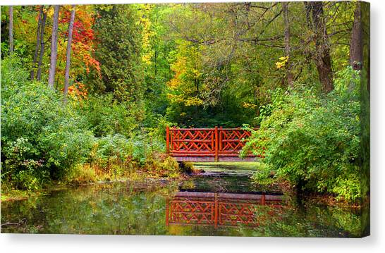 Henes Park Pond Bridge Canvas Print