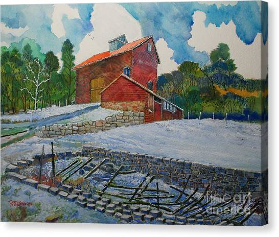 Henry Fowler Farm Canvas Print by Donald McGibbon