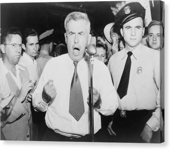 Democratic Politicians Canvas Print - Henry Wallace 1888-1965, 1948 by Everett