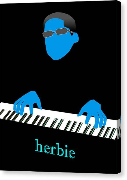 Herbie Blue Canvas Print by Victor Bailey