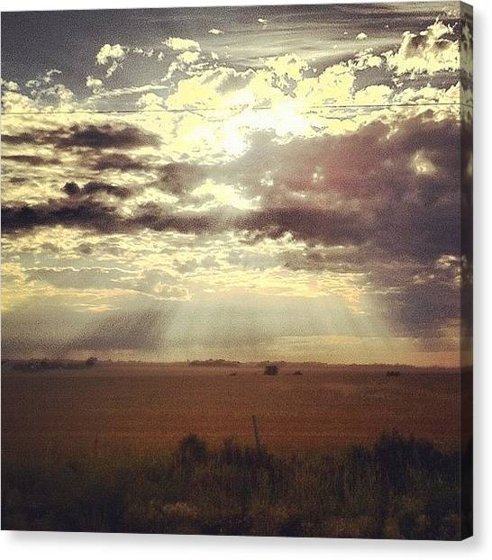 Prairie Sunrises Canvas Print - Here Comes The Sun by Eric Dick
