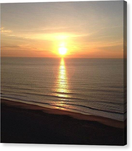 Ocean Sunrises Canvas Print - Here Comes The Sun:)) by Stephanie Thomas