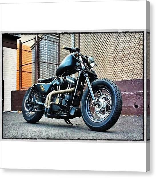 Harley Davidson Canvas Print - Here She Is From Another by Omar Elsebai