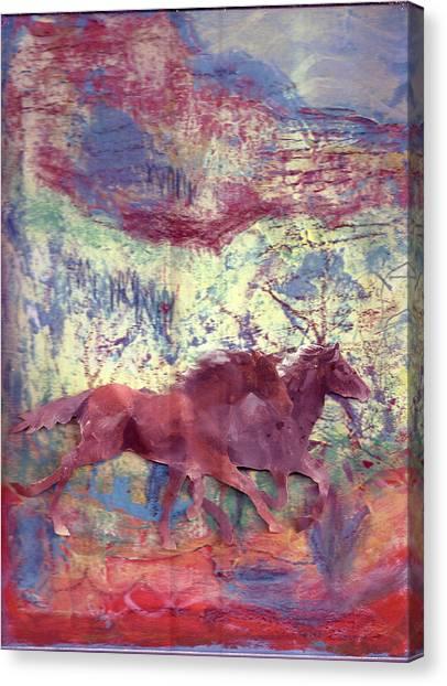 Here We Go Again  Canvas Print by Anne-Elizabeth Whiteway