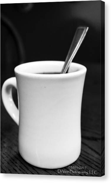 Here's Your Coffee Can I Get You Anything Else? Canvas Print by Stephani JeauxDeVine