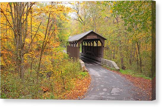 Herns Mill Covered Bridge Canvas Print