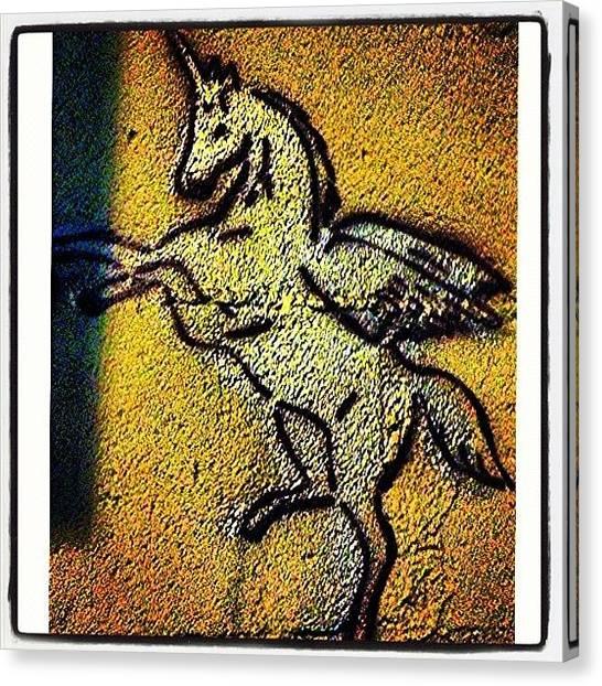 Unicorns Canvas Print - Hey Lil' #unicorn !💫 #bushwick by Jodi Jankowski