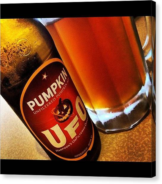 Pumpkins Canvas Print - Hey There #pumpkin! #ale #beer by Ivan Belvis