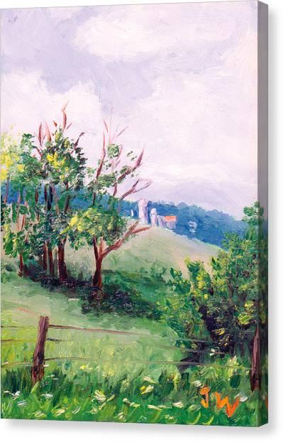 Hickory Hillside Canvas Print by Joe Winkler