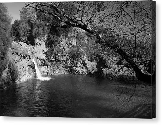 Hidden Falls Canvas Print by Jez C Self