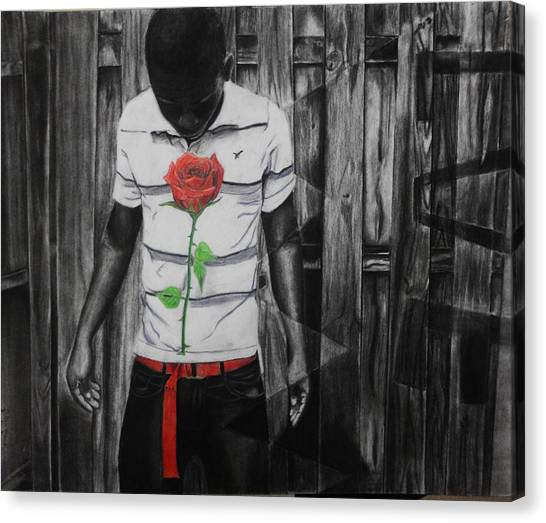 Hidden Heart Canvas Print by Kodjo Somana