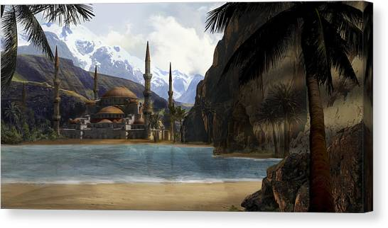 Hidden In The Mountains Canvas Print