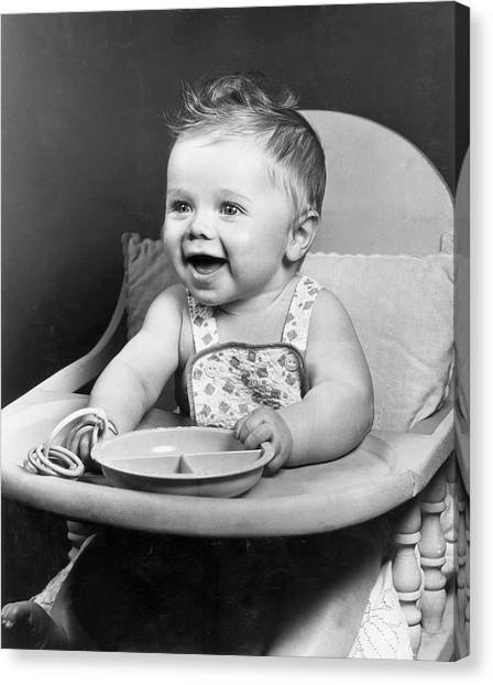 High Chair Hijinks Canvas Print by Archive Photos