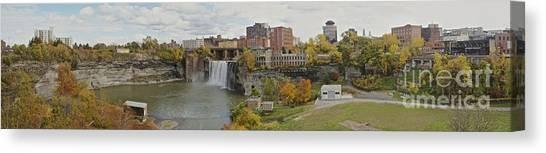High Falls Panorama Canvas Print