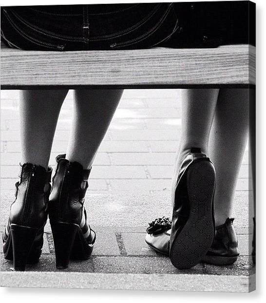 Yen Canvas Print - High Heel #instagood  #black #white #0 by Kee Yen Yeo