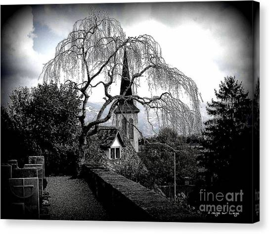 High On The Hill Peace And Eternal Rest Reign Canvas Print