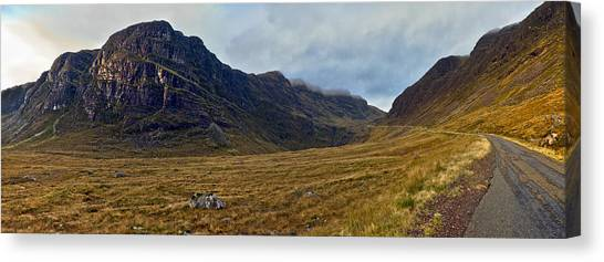 Highland Cliff Panorama Canvas Print