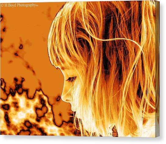 Highlights Of Innocence Canvas Print by Heather  Boyd