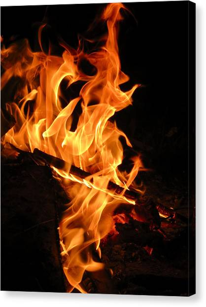 Highly Defined Flame Canvas Print