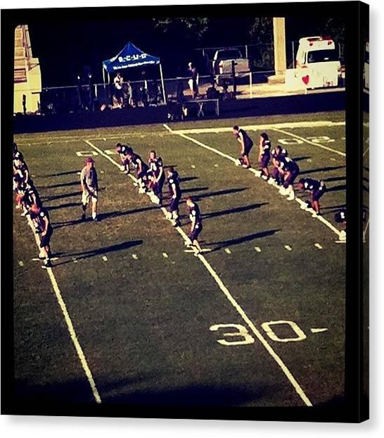 Football Teams Canvas Print - #highschool #footballgame #hotday by S Smithee