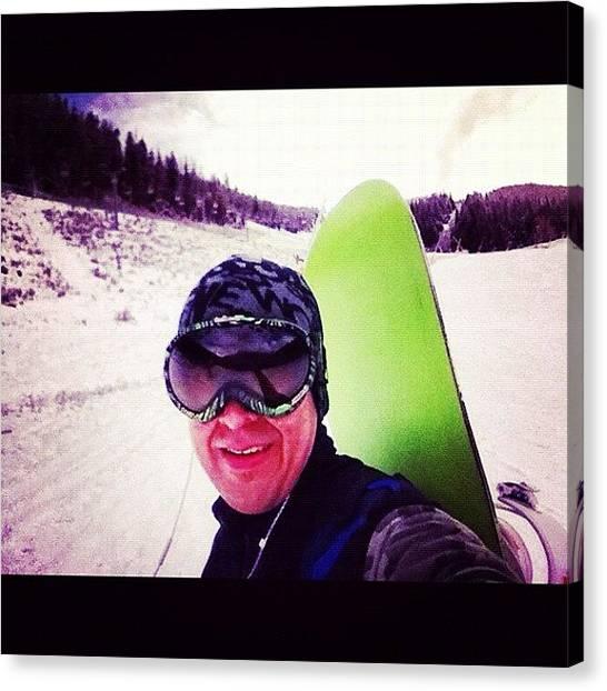Snowboarding Canvas Print - #hiking #snowboard #love #instagood by Cesar D Romero