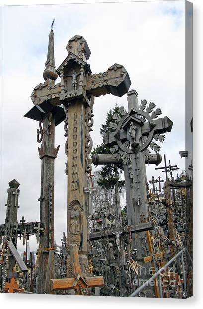 Hill Of Crosses 09. Lithuania Canvas Print