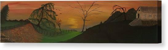 Hillside Canvas Print by Shadrach Ensor