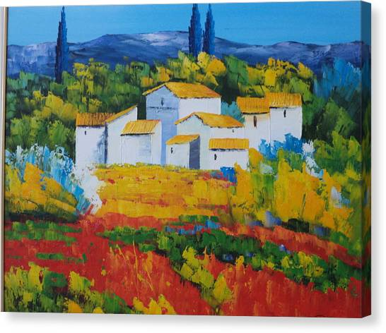 Hilltop Village Canvas Print