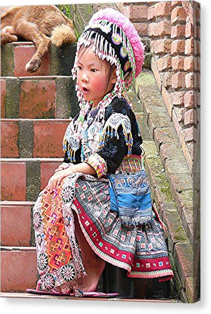 Hilltribe Cutie Canvas Print