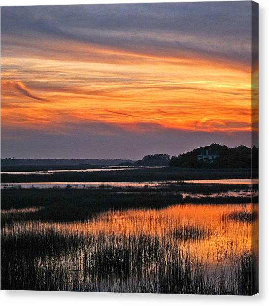 Hilton Head Sunset Canvas Print