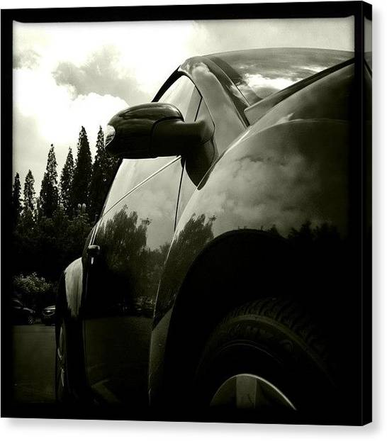 Volkswagen Canvas Print - #hipstamatic #johns #claunch72monochrome by Wei Zhang