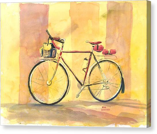 His Bike Remembered Canvas Print