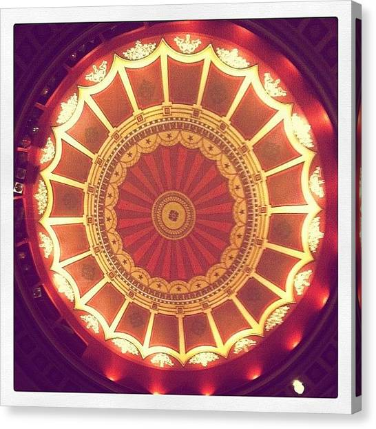 Art Deco Canvas Print - His Majesty's Theatre Ceiling by Hope Trunfio