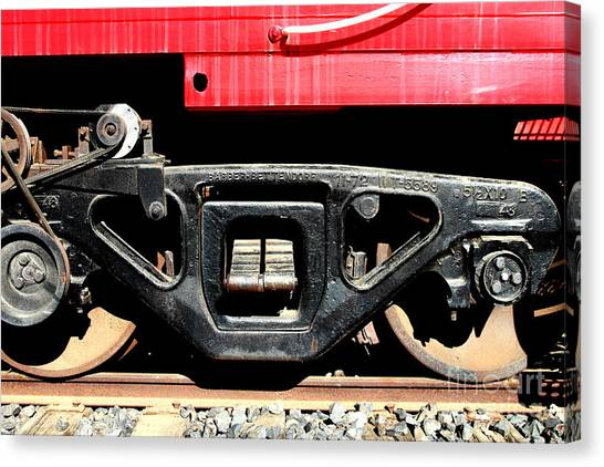Old Caboose Canvas Print - Historic Niles District In California Near Fremont . Western Pacific Caboose Train . 7d10625 by Wingsdomain Art and Photography