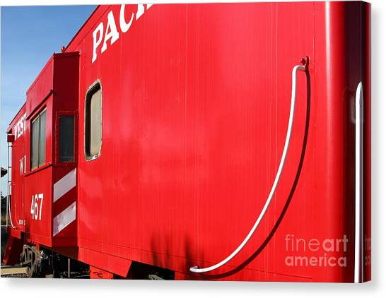 Old Caboose Canvas Print - Historic Niles District In California Near Fremont . Western Pacific Caboose Train . 7d10724 by Wingsdomain Art and Photography