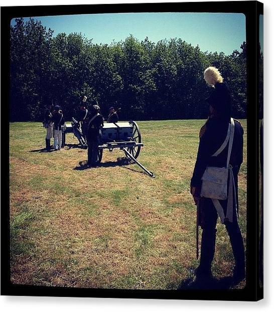 Soldiers Canvas Print - #historical #reenactment #kent by Adam Coleman