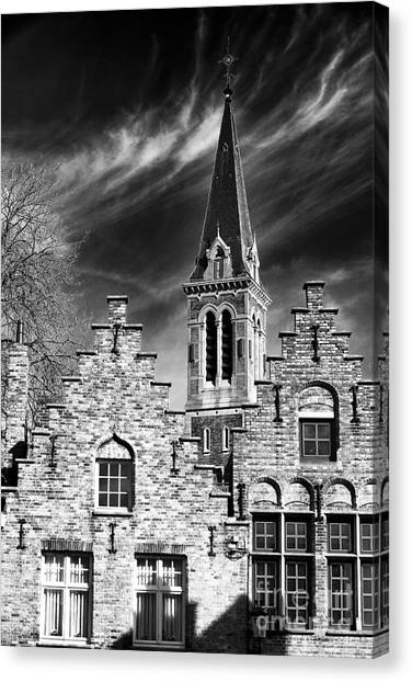 History In Bruges Canvas Print by John Rizzuto
