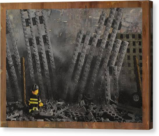 Nyfd Canvas Print - Hitting Home by Josh Bernstein
