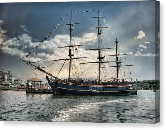Hms Bounty Newport Canvas Print