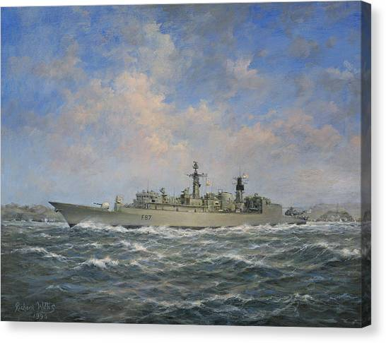 Navy Canvas Print - H.m.s. Chatham Type 22 - Batch 3 by Richard Willis
