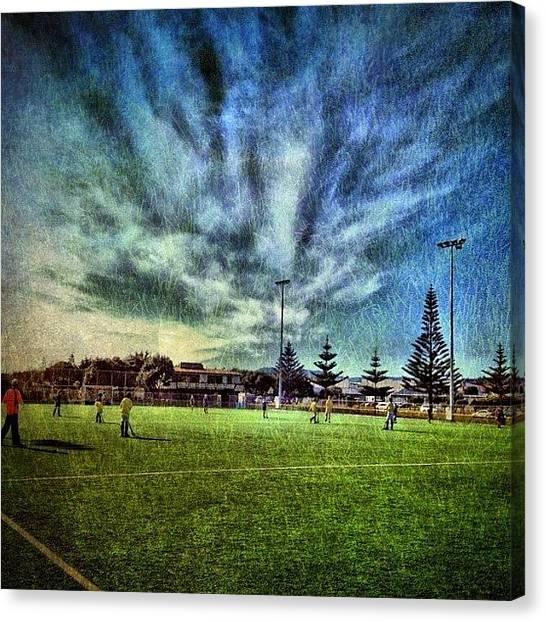 Hockey Canvas Print - Hockey Clouds #iphonesia #photooftheday by Stewart Baird