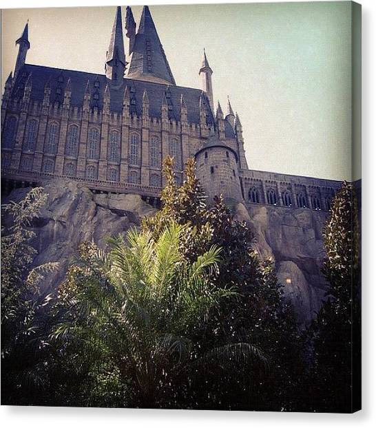 Harry Potter Canvas Print - Hogwarts by Eduardo Nass Balbontin