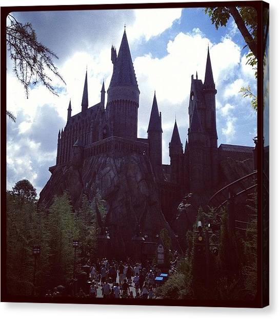 Harry Potter Canvas Print - Hogwarts by Lisa Sarmento