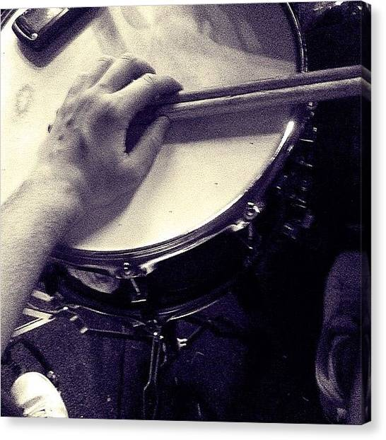 Percussion Instruments Canvas Print - Hoje Eu To Na Drums #vishh #treta by Pedro Ribeiro