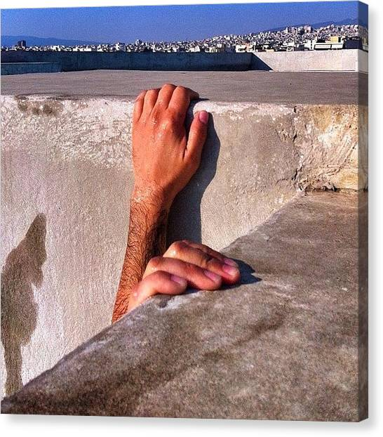 Greece Canvas Print - Hold On by Seras S